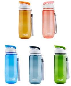 Пластиковая спортивная герметичная бутылка для воды для фитнеса 560/590 мл