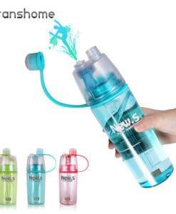 Пластиковая спортивная герметичная бутылка с распылителем для воды для фитнеса 400/600 мл
