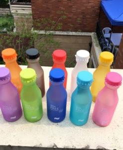 Пластиковая спортивная герметичная матовая бутылка BPA FREE для воды для фитнеса 550 мл