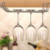 Подвесной металлический держатель для фужеров-бокалов