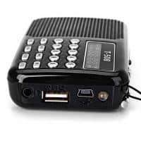 Портативный мини FM радиоприемник T-508