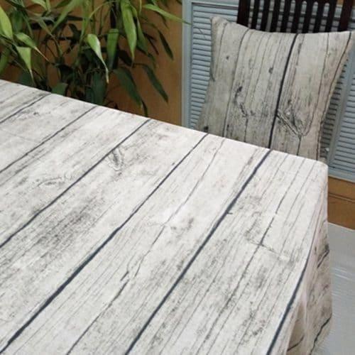 Прямоугольная хлопковая скатерть на стол с текстурой-рисунком дерева