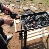 Ручной вентилятор для обдува мангала, барбекю, гриля