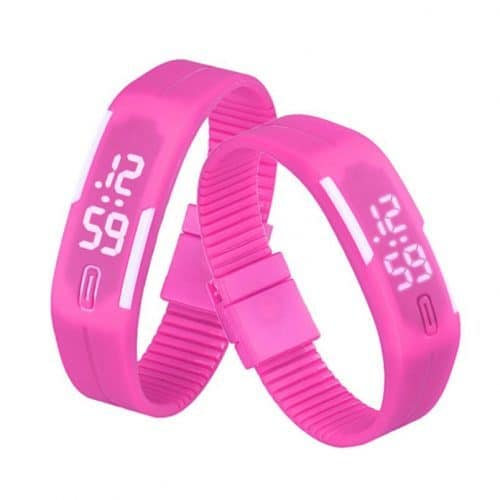 SENORS Мужские и женские наручные спортивные силиконовые цифровые водонепроницаемые светодиодные часы-браслет