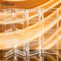 Складной прозрачный акриловый органайзер-стойка для хранения ювелирных украшений