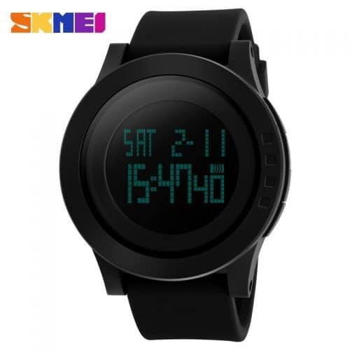 SKMEI Мужские наручные электронные силиконовые цифровые водонепроницаемые светодиодные часы