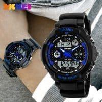 SKMEI Мужские наручные цифровые спортивные часы с подсветкой