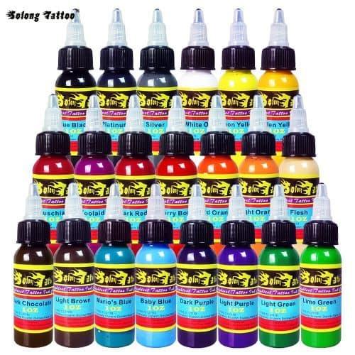Solong Tattoo Ink Набор чернил-красок для тату 21 цвет по 30 мл