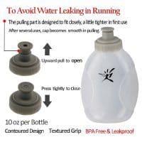 Светоотражающая спортивная поясная сумка для бега с двумя бутылками для воды по 280 мл