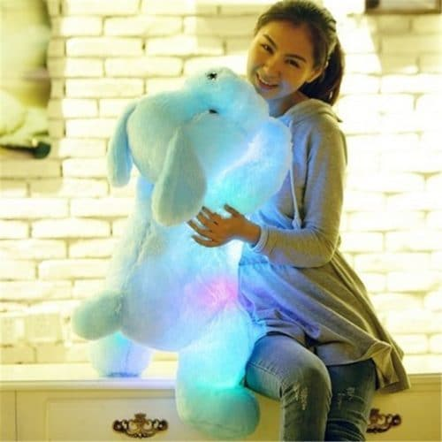 Светящаяся в темноте светодиодная мягкая игрушка-собачка
