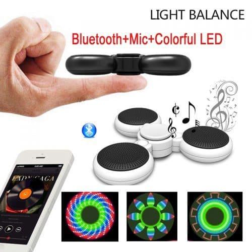 Светящийся ручной спиннер-bluetooth динамик с микрофоном громкой связи