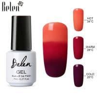 Термо гель-лак-хамелеон для маникюра и дизайна ногтей Belen 7 мл (меняющий цвет от температуры)