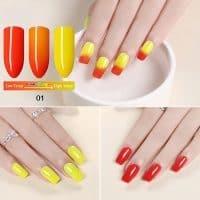 Термо гель-лак-хамелеон для маникюра и дизайна ногтей KCE 10 мл (меняющий цвет от температуры)