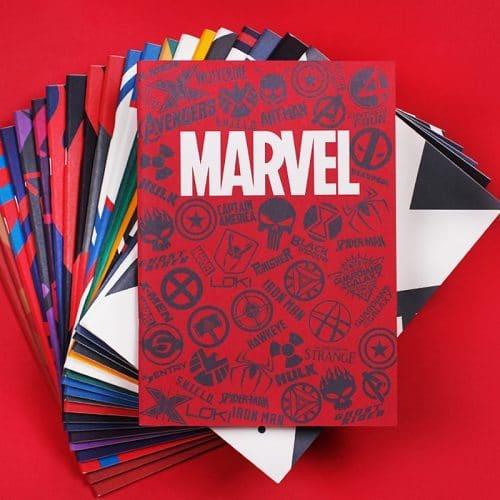 Тетради-блокноты B5 в стиле Marvel, 40 листов