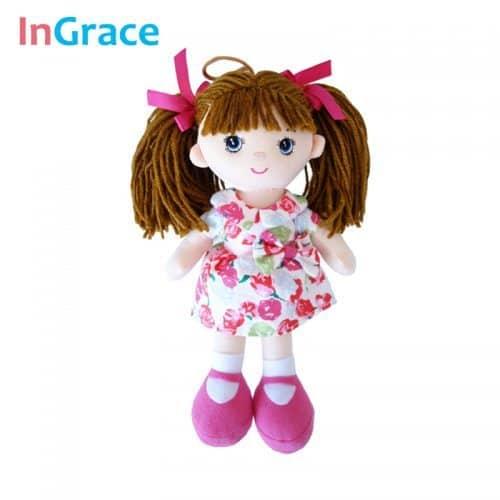 Тряпичная мягкая плюшевая кукла 25 см для девочки
