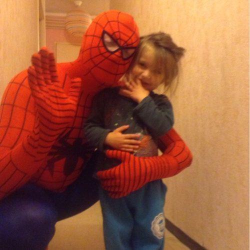 Взрослый и детский косплей-костюм Человека Паука (Spider Man)