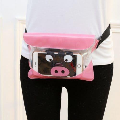 Женская дорожная водонепроницаемая ПВХ сумка на пояс для телефона с регулируемой длиной