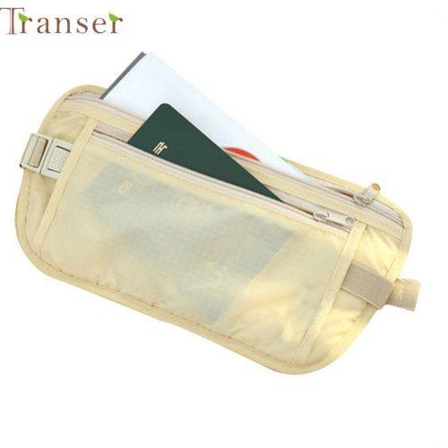 Женская и мужская однотонная маленькая сумка-кошелек на пояс