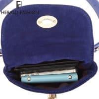 Женская однотонная маленькая сумка-клатч на пояс из искусственной кожи с цепочкой