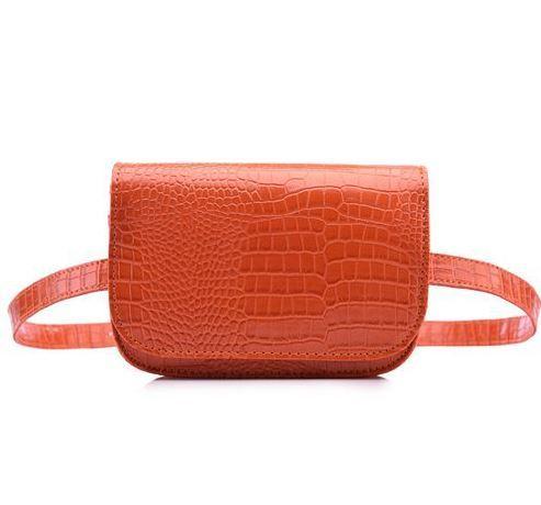 Женская однотонная маленькая сумка-кошелек на пояс из искусственной кожи