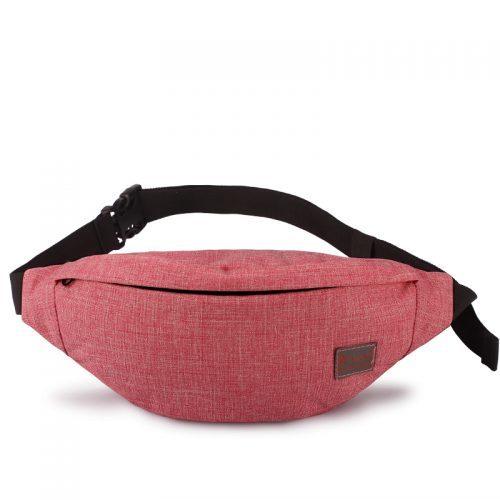 Женская тканевая однотонная сумка на пояс с регулируемой длиной