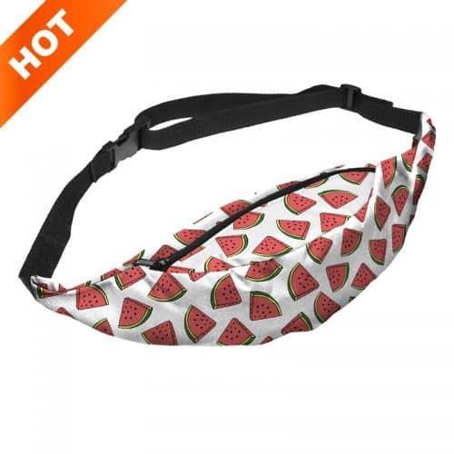 Женская тканевая сумка на пояс с регулируемой длиной и красочными принтами