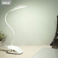 Светодиодный гибкий настольный светильник лампа на прищепке