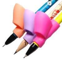 Анатомическая эргономичная силиконовая насадка-держатель для карандашей и ручек (в наборе 3 шт.)