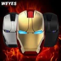 Беспроводная компьютерная мышь в виде Железного Человека (Iron man)