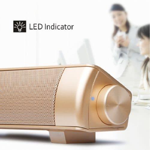 Беспроводный bluetooth Hi-Fi 3D саундбар-динамик-колонка с микрофоном