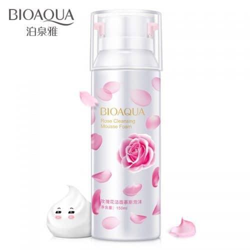 Bioaqua Роза очищающая пенка для умывания лица