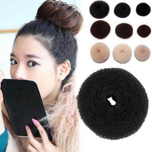 Бублик-пончик для создания пучка из волос