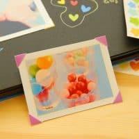 Бумажные разноцветные уголки для крепления фотографий в фотоальбом 306 шт.