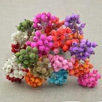 Декоративные зимние ягоды 20 шт. для рукоделия, скрапбукинга