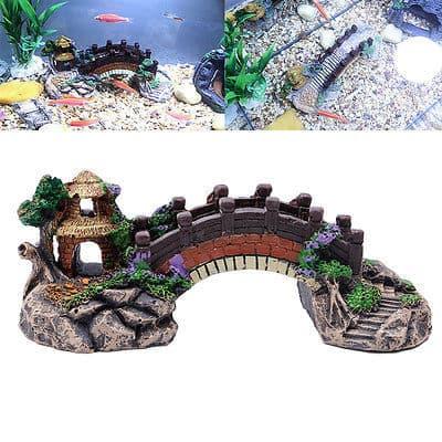 Декоративный мостик в аквариум
