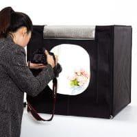 Фотокуб для предметной съемки + свет + 2 фона