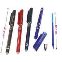 Гелевая ручка 0.5 мм со стираемыми чернилами и ластиком + стержни
