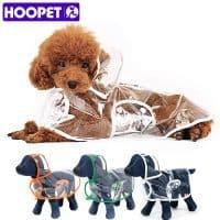 HOOPET непромокаемый прозрачный дождевик с капюшоном для маленьких собак