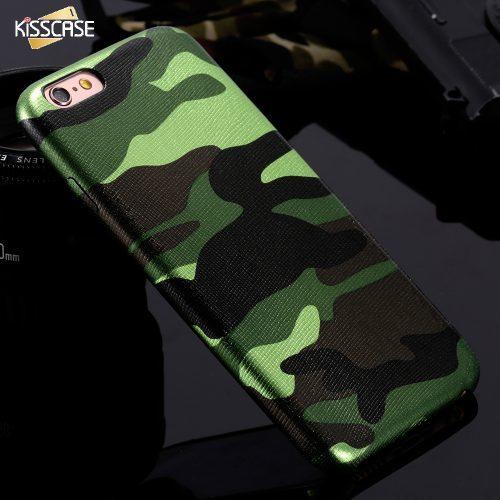 Камуфляжный мягкий чехол-бампер для iPhone 5, 6, 7