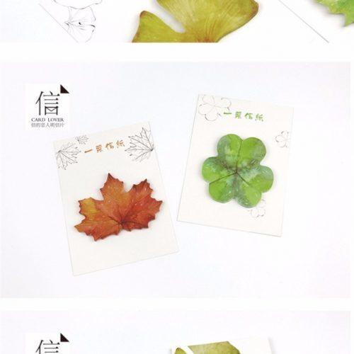 Канцелярские стикеры-наклейки Листья (4 вида по 30 шт.)