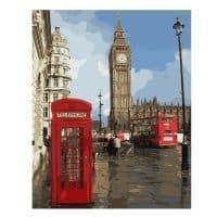 Картина-раскраска по номерам на холсте Лондон