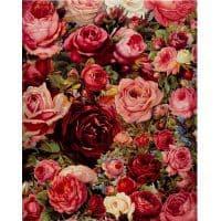 Картина-раскраска по номерам на холсте Розы