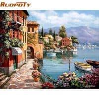 Картина-раскраска по номерам на холсте Венеция