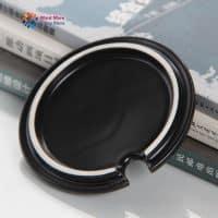 Керамическая черная чашка-кружка с символикой супергероев
