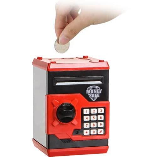 Копилка-сейф с кодовым замком для монет и купюр