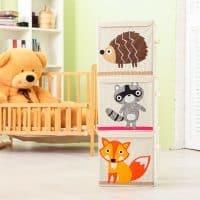Коробка-органайзер с изображением животных для хранения детских вещей и игрушек