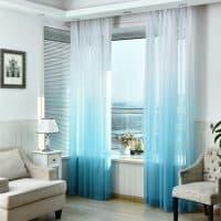 Красивый тюль с градиентом на окна