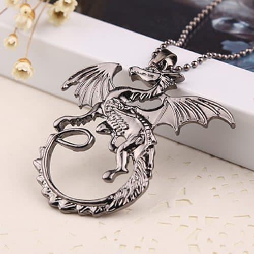 Кулон-подвеска с цепочкой Дракон дома Таргариенов из сериала Игра престолов