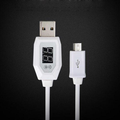 MicroUSB светодиодный цифровой кабель-провод с индикатором тока и напряжения