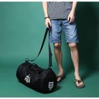MIWIND спортивная дорожная черная сумка с плечевым ремнем